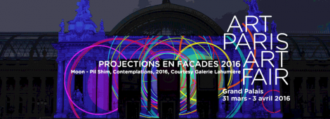 Moon-Pil Shim Projet projection façade Grand Palais