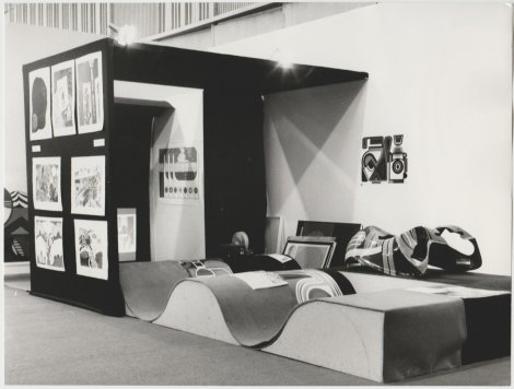 Vue of our booth 1st Art Basel 1970